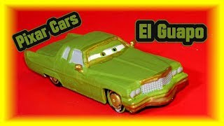 Pixar Cars Video Game El Guapo Custom from Cars 1 Dinoco Tex with Precision Lightning McQueen
