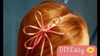 Spring Hairstyles, Ribbon Flower And Shamrock