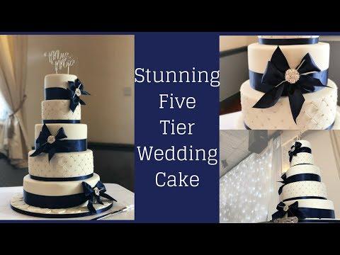 stunning-five-tier-wedding-cake-(navy-and-white-wedding-cake)