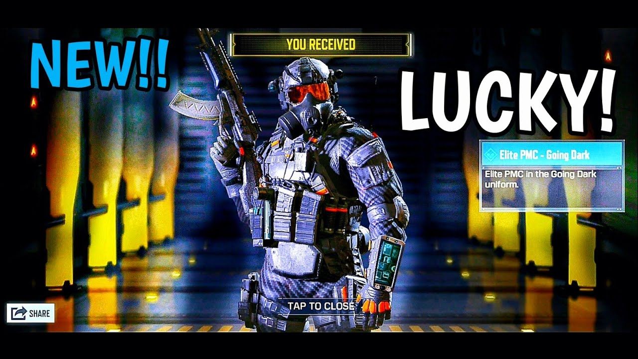Call Of Duty Mobile Unlocking Rare Elite Pmc Going Dark Character Skin Youtube
