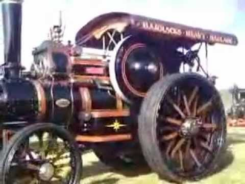 black steam vehicle - john fowler and co