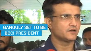 Watch: Sourav Ganguly set to be BCCI President, says there's a lot to do