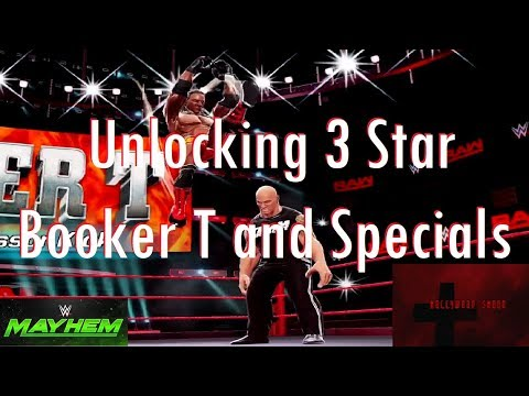 WWE Mayhem - Unlocking 3 Star Booker T and Specials