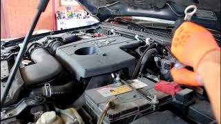 Как проверять уровень масла в АКПП на ,P, или ,N, Mitsubishi Pajero 2008 Мицубиси Паджеро 3,2