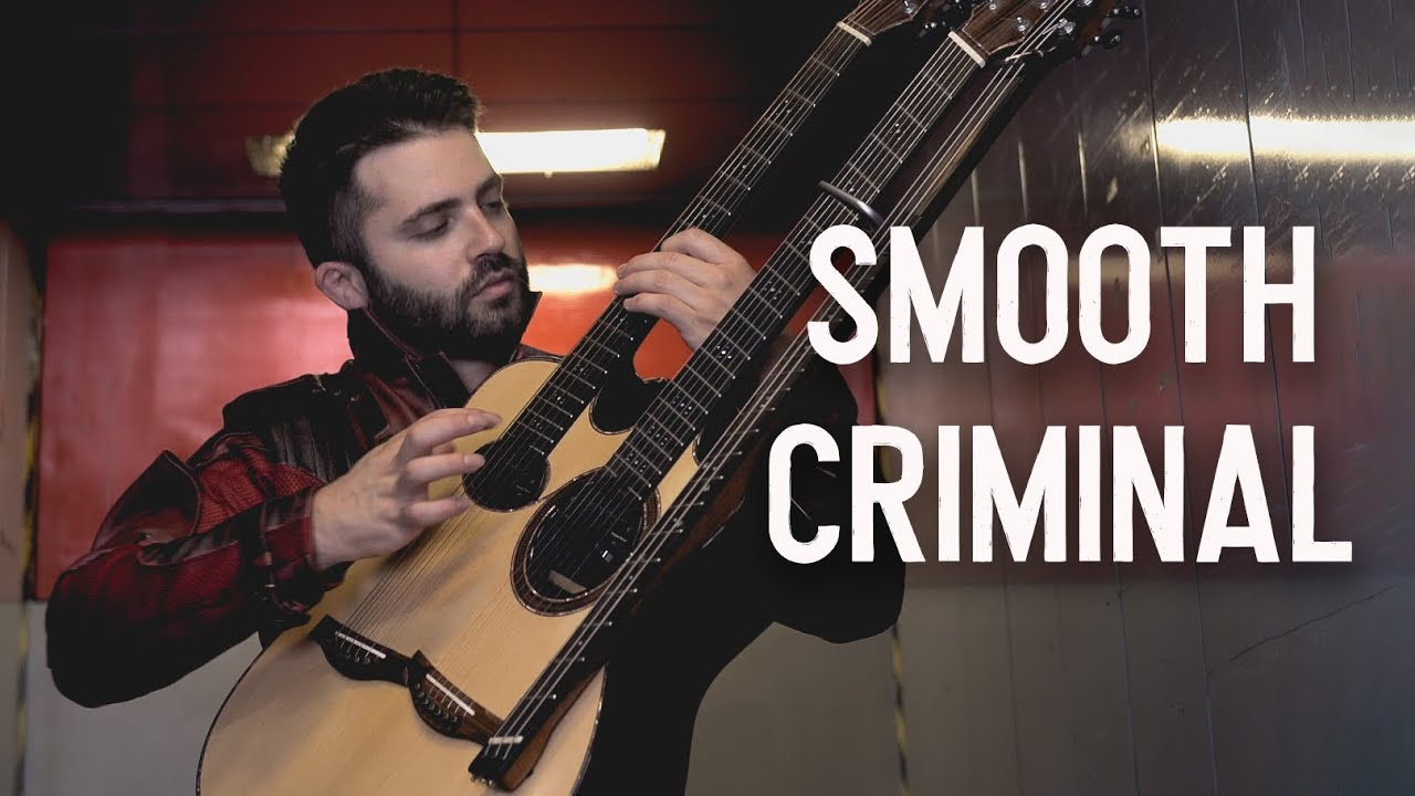 SMOOTH CRIMINAL (Michael Jackson) on Triple Neck Guitar - Luca Stricagnoli