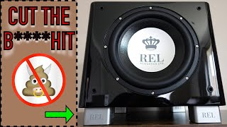 REL T9x  Let's be real guys!  ... Watch this before you buy a T9x subwoofer (Review and DEMO)