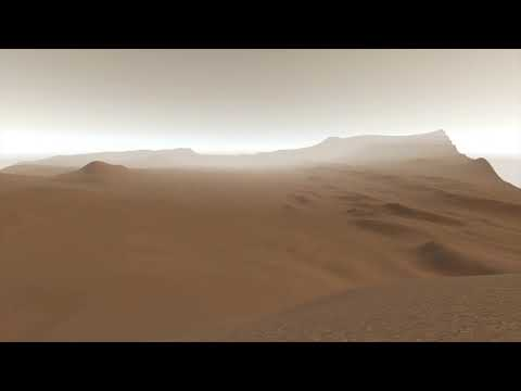 Walking on the Gale Crater Mountain in VR