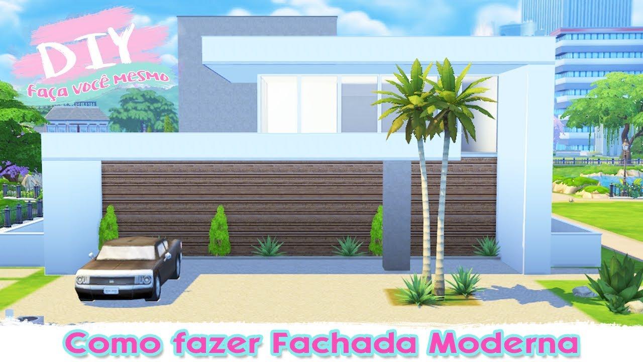 Como fazer a fachada da casa moderna diy the sims 4 for Casas sims 4 modernas