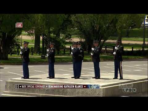 Honor Procession Bring Gov. Kathleen Blanco To Louisiana State Capitol