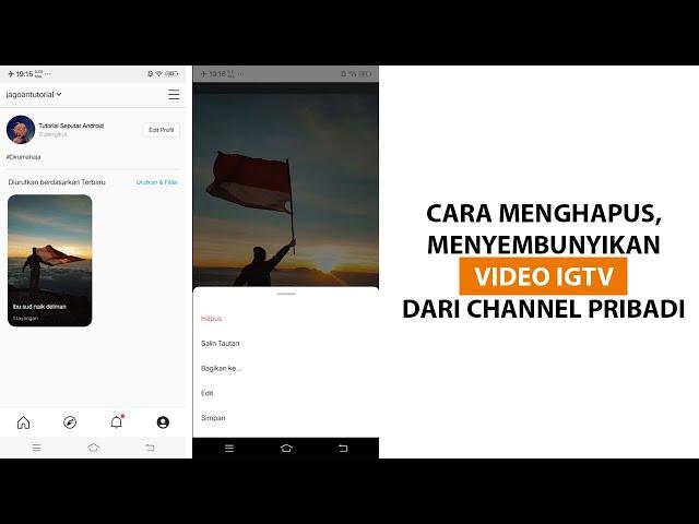Cara Menghapus Menyembunyikan Video IGTV dari Channel Pribadi