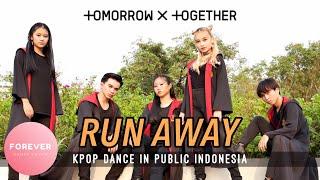 TXT RUN AWAY DANCE COVER IN PUBLIC INDONESIA