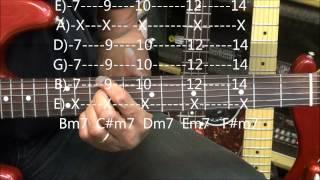 Guitar Chord Form Tutorial #211 FATAI Style Snowman R&B Jazz Shapes Lesson
