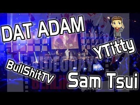 VIDEODAY in BERLIN 2015  VLOG #2   SAM TSUI, DAT ADAM ETC  LIVE!!!!