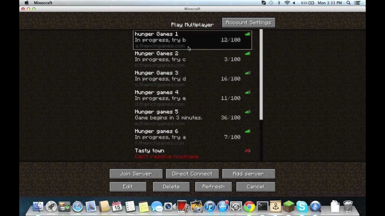 hunger games server ip's - YouTube