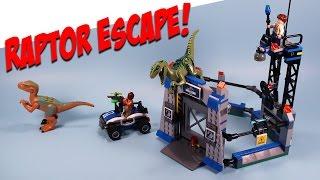 Jurassic World Lego Raptor Escape Build Playset Charlie & Echo Review