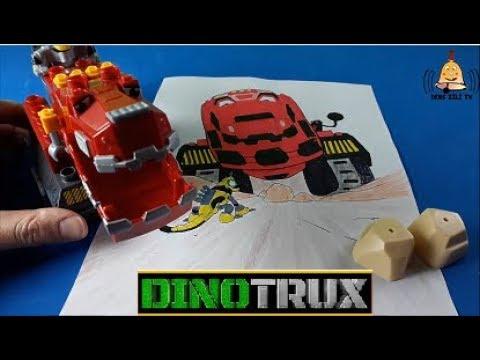 Dinozor Makineler Megaconstrux Ty Rex Revvit Boyama Dinotrux