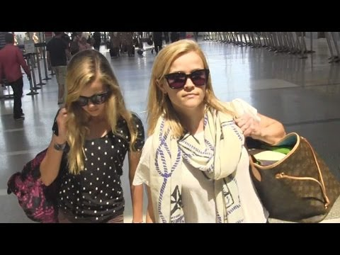 Reese Witherspoon And Daughter Ava Look Identical While At LAX