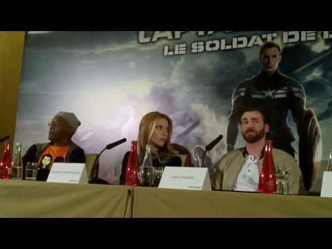 Captain America: The Winter Soldier press conference in Paris