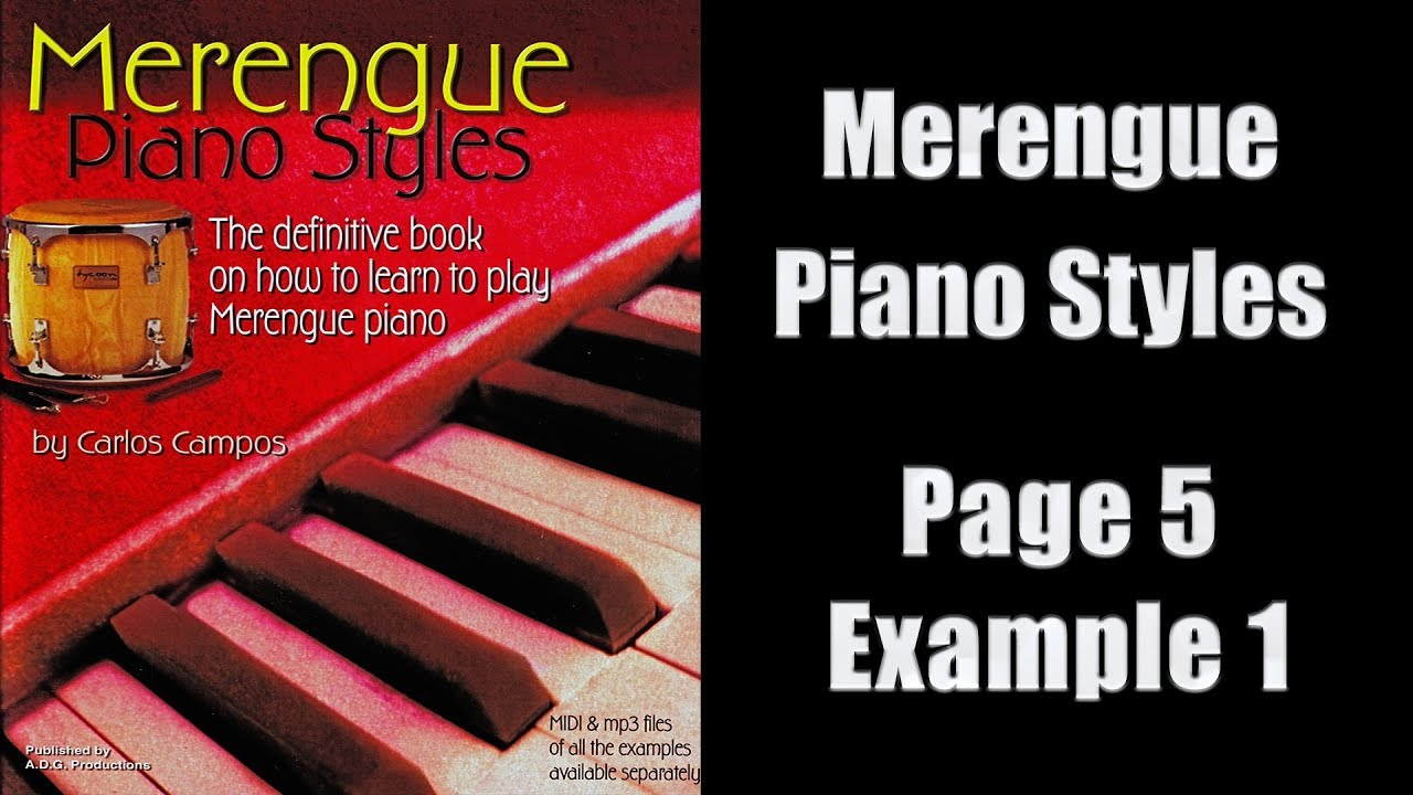 Merengue Piano Styles (Page 5, Example 1)