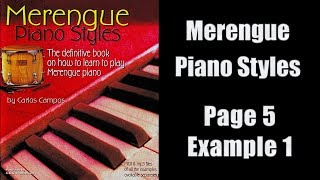 Merengue Piano (Page 5, Example 1)