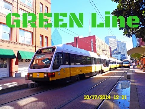 🚊/💺 Dallas DART: GREEN Line (SUPER Light Rail) to Buckner... FULL RIDE!