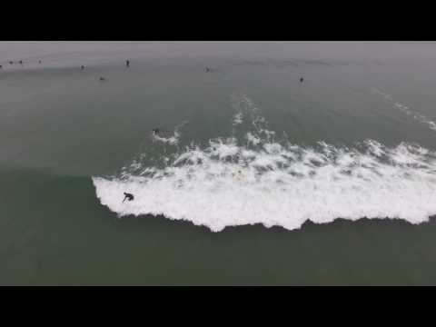 Surfing at Morro Bay, CA Aug 2016