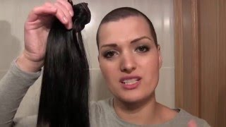 EXTENSIONES VPFASHION | BLACK-SILVER | CABEZA RAPADA | SHAVED HEAD