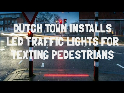 Dutch Town Installs LED Traffic Lights On The Ground For Texting Pedestrians