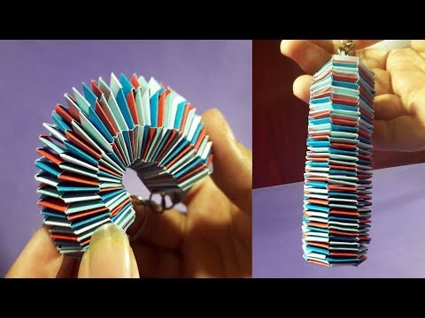 How To Make A Beautiful And Slinky Paper Key Chain  | Lizard Tail Paper Key Chain |