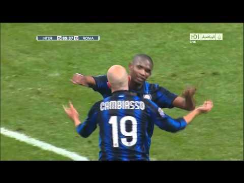 Inter Milan VS AS Roma 5 - 3 Goal Cambiasso HD