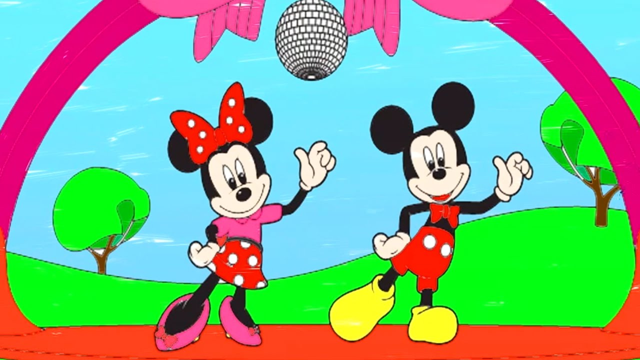 Disneys Mickey Mouse Coloring For Children Mickey Minnie Mouse