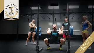 The third event of the CrossFit Team Series is a 3-rep-max front squat. Click here for full details: http://games.crossfit.com/article/third-event-team-series-released ...