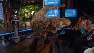Ellen Meets a Dinosaur