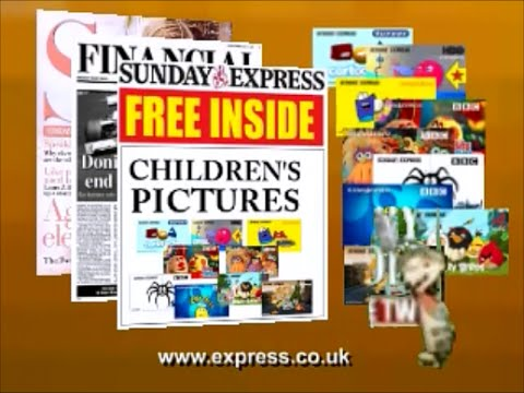 Sunday Express Children's Pictures UK July 2012 Advert