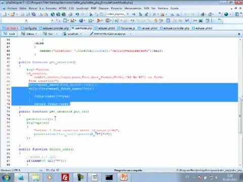 VideoTutorial 6 del Taller Práctico de PHP y MySQL