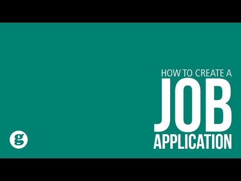 how to create a job application youtube
