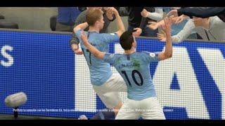 FIFA 19_Gol con comba modo carrera Manchester City vs Manchester United