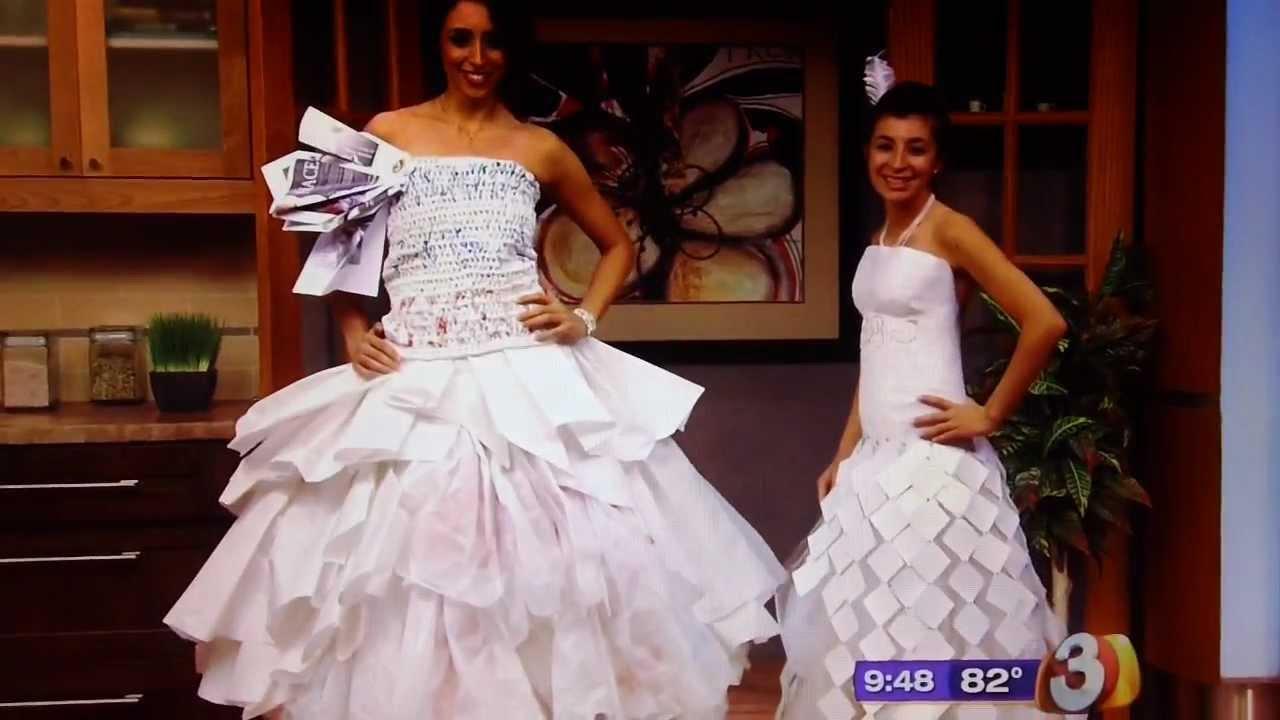 Jennyvi Dizon's Crochet Plastic Grocery Bag and Paper Dress - YouTube