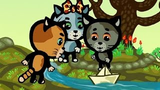 Обучающие мультфильмы (songs for kids) - Времена года. Весна - Три котенка