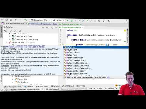 C# Clean Arch Entity Framework Core 2018 | S4P6 | DbContext Options for DB