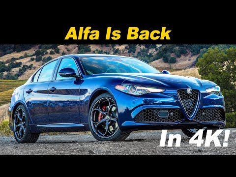 2018 Alfa Romeo Giulia  and Road Test In 4K UHD!
