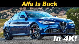 2018 alfa romeo giulia review and road test in 4k uhd