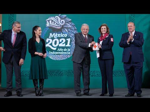 Inicio de Colecta Nacional 2021 de la Cruz Roja Mexicana. Conferencia presidente AMLO