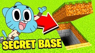 Minecraft : WHATS INSIDE GUMBALLS SECRET BASE??! (Ps3/Xbox360/PS4/XboxOne/PE/MCPE)