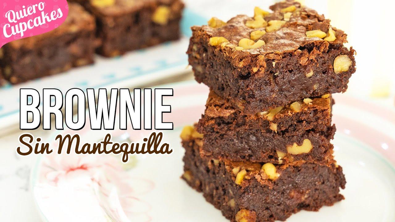 BROWNIE DE CHOCOLATE 🍫| Sin mantequilla| QUIERO CUPCAKES