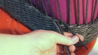 Как незаметно наращивать трубочки при плетении верёвочкой. Часть 1.