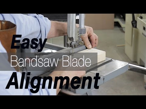 How to Alignment Bandsaw Blades