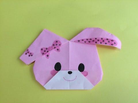 簡単 折り紙:キティ 折り紙-youtube.com