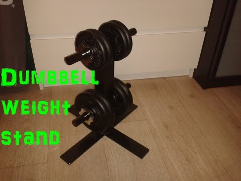 DIY Dumbbell weight stand