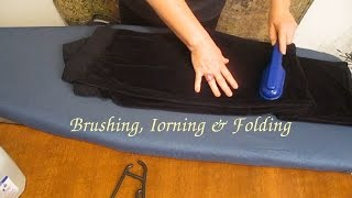 ASMR  **BRUSHING/STEAMY IRONING/FOLDING HANDKERCHIEFS**